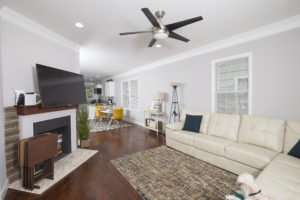 Lovely modern living room cleaned by Smyrna GA home cleaning service