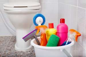 How to clean a bathroom fast