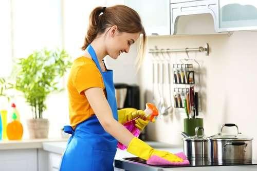 How do you sanitize countertops